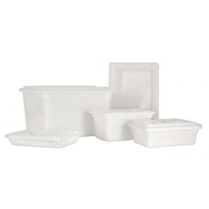 "Omcan 18"" X 26"" X 15"" White Rectangular Food Storage Container, Each (85132)"
