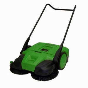 "Bissell Commercial 31"" Deluxe Triple Brush Push Power Sweeper, PPS31D, Orange and Black (BIS-BG-477)"