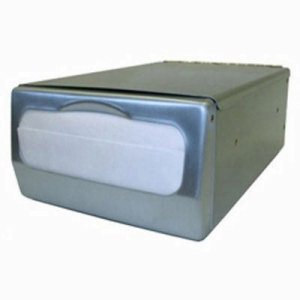 Palmer Counter-Top Minifold Napkin Dispenser, Brushed Steel (PFO-ND0061-13)