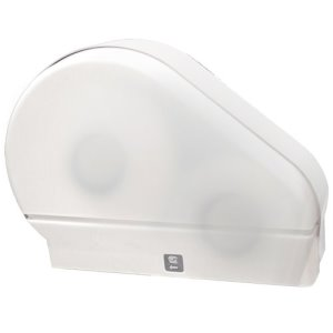 Palmer Single Jumbo Jr. Toilet Paper Dispenser with Stub, White (PFO-RD0024-03F)