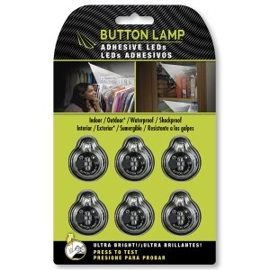 Button Lamp Adhesive LEDs Light Package, Ultra Bright, 6 Pack (BL-6885)