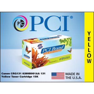 PCI Brand Canon 6269B001AA 131 Yellow Toner Cartridge 1.5K Yld (6269B001AA-PCI)