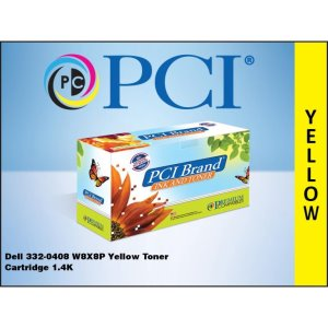 PCI Dell 332-0408 WM2JC W8X8P Yellow Toner 1.4K Yld TAA Compliant (332-0408-PCI)
