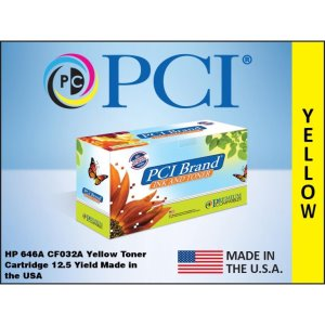PCI Brand Xerox 6R03007 646A CF032A Yellow Toner Cartridge (6R03007-PCI)