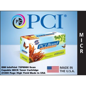 PCI Brand IBM 75P6960 Scan Capable MICR Toner Cartridge 12K Yield (75P6960M-PCI)