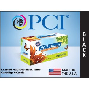 PCI Brand Lexmark 62D1000 Black Toner Cartridge 6K Yield (62D1000-PCI)