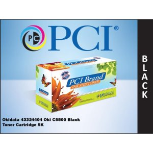 PCI Okidata 43324404 C5800 Black Toner Cartridge (43324404-PCI)
