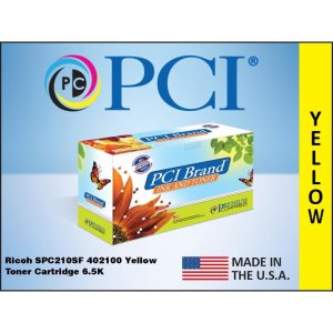 PCI Brand Ricoh 402100 Yellow Toner Cartridge 6.5K Yield (402100PC)