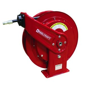 "Reelcraft Retractable Grease Hose Reel, 1/4"" ID, 75 FT, 5000 PSI (HD74075 OHP)"