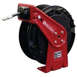"Reelcraft Retractable Grease Hose Reel, 1/4"" ID, 25 FT, 5000 PSI (RT425-OHP)"