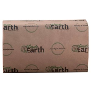 Simple Earth 1-Ply Singlefold Paper Towels, White, 4000 Towels (S1070)