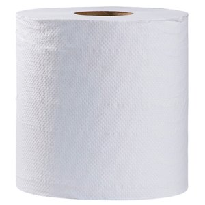 "Simple Earth Hardwound Towel 8"" X 800', White, 6 Rolls (S1296)"