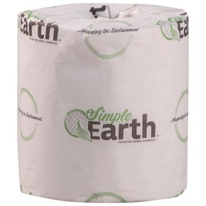 Simple Earth Standard 2-Ply Toilet Paper Rolls, 96 Rolls (S2260)