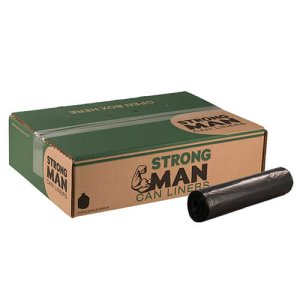 Strongman 45 Gallon Black Garbage Bags, 40 x 46, 2.0mil, 100 Bags (SM404620)