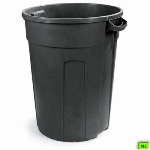 Carlisle FVP Economy Waste Container - 32 Gal., Black, 4/cs, Black, (SHR-CAR34123203)