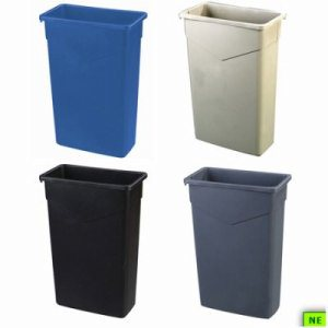 Carlisle Trimline Waste Container - 23 Gal., Blue, 4/cs, Blue, (SHR-CAR34202314)