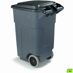 Carlisle Roll-Away Waste Container - 50 Gal., Gray, 2/cs, Gray, (SHR-CAR34505023)
