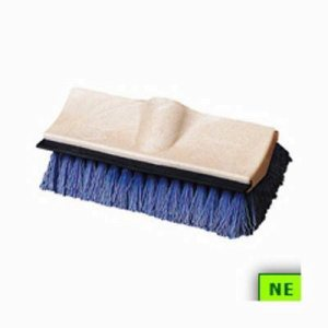 "Carlisle Dual Surface Floor Scrub w/ Side Bristles 10"" Blue (SHR-CAR36219422)"