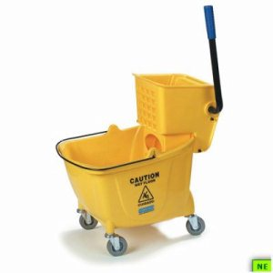 Carlisle Bucket/Wringer w/Side Press - 26/35 Qt., ea, (SHR-CAR3690404)