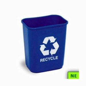 28 Quart Recycling Container, Blue (SHR-CON28181)