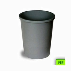 Continental Round Commercial Wastebaskets (SHR-CON4438GY)