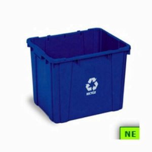 14 Gallon Curbside Recycling Bin, Plastic, Blue (SHR-CON59141)