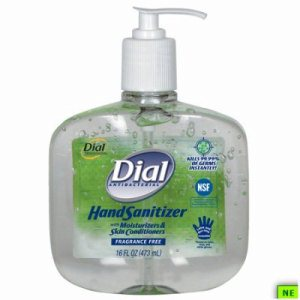 Dial Hand Sanitizer - 16 oz., Fragrance-Free, 8/cs, Fragrance-Free, (SHR-DIA00213)