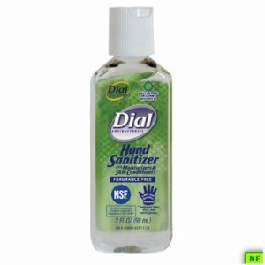 Dial Hand Sanitizer - 2 oz., Fragrance-Free, 24/cs, Fragrance-Free, (SHR-DIA00688)