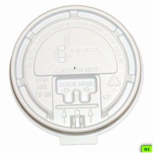 Dopaco White Tear Back Hot Lid - 10 oz., 1000/cs, (SHR-DOP13865)