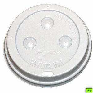 Dopaco White Dome Lid - 8/10 oz., 1000/cs, White, (SHR-DOP4930)