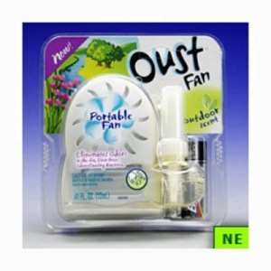 Oust Air Freshener Portable Fan - Outdoor Scent, 6 per Case (SHR-DRKCB137966)