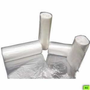 10 Gallon Clear Trash Bags, 24x24, 6mic, 1000 Bags (SHR-FLXHR24246C)