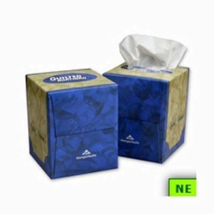GP Quilted Northern Facial Tissue - Cube Box, White (SHR-GPC46596)