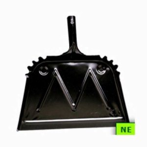 "Impact 16"" Metal Dust Pan, Black (SHR-IMP4216)"
