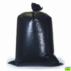 45 Gallon Black Trash Bags, 40x48, 22mic, 150 Bags (SHR-FLXHR404822B)
