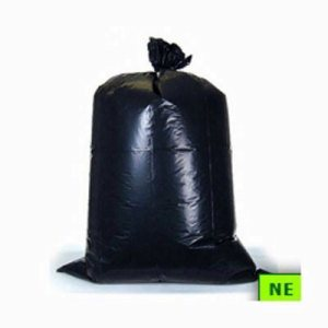 60 Gallon Black Trash Bags 38x60 17 Mic 200 per Case (SHR-ADVC386017B)