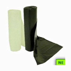 "8 - 10 Gallon Trash Bags, Clear, 24"" x 24"", 8 mic, 1,000 Bags (SHR-GEN242408N)"