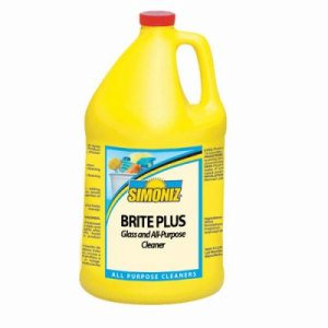 Simoniz Brite Plus Concentrated Glass Cleaner, Gallon, 4 Bottles (B0405004)
