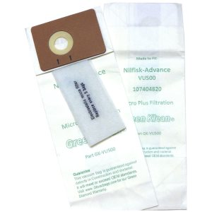 Advance VU500 12 & 15 Uprights Vacuum Replacement Bags, 100 bags (GK-VU500)