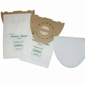 Advance UZ964 Hip Vac Replacement Vacuum Bags with Filters, 100 Bags (GK-UZ964)
