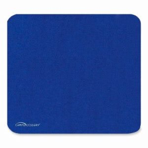 Compucessory Economy Mouse Pad, Nonskid Rubber Base, Blue (CCS23605)