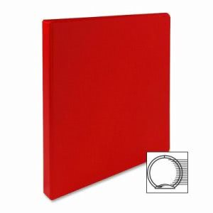 "Sparco 3-Ring Binder, 1/2"" Capacity, 11""x8-1/2"", Red (SPR03210)"