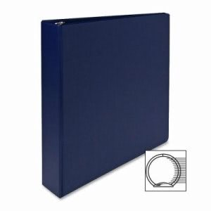 "Sparco 3-Ring Binder, 1-1/2"" Cap, 11""x8-1/2"", Dark Blue (SPR03400)"