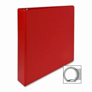 "Sparco 3-Ring Binder, 1-1/2"" Capacity, 11""x8-1/2"", Red (SPR03410)"