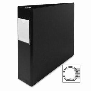 "Sparco 3 Ring Label Hold Binder, 2""Capacity, 11""x8-1/2"", Black (SPR04501)"