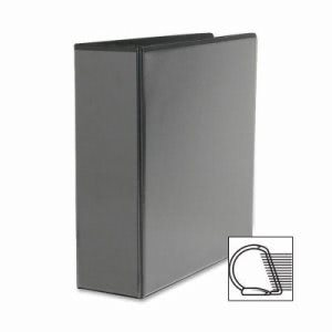 "Sparco Slant Ring View Binder, 3"" Capacity, 11""x8-1/2"", Black (SPR09700)"