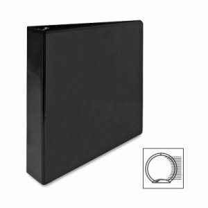 "Sparco Round Ring View Binder, 1-1/2""Capacity, 11""x8-1/2"", Black (SPR19650)"