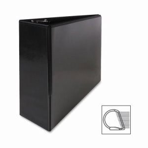 "Sparco Slant Ring View Binder, 4"" Capacity, 11""x8-1/2"", Black (SPR62472)"