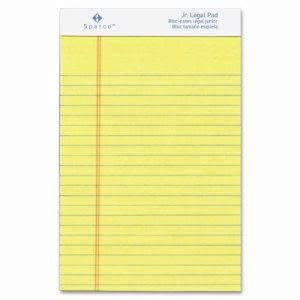 "Sparco Perforated Jr. Legal Ruled, 50 Sheet, 5""x8"", Canary, 12 Pads (SPR2058)"
