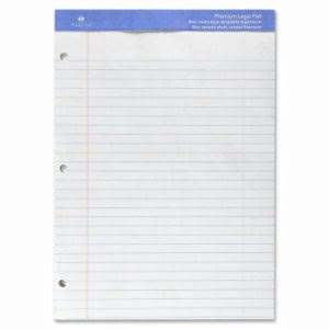 "Sparco Legal Ruled Pad, 3HP, Perf., 50 Shts, 8-1/2""x11-3/4"", White (SPRW10113HP)"